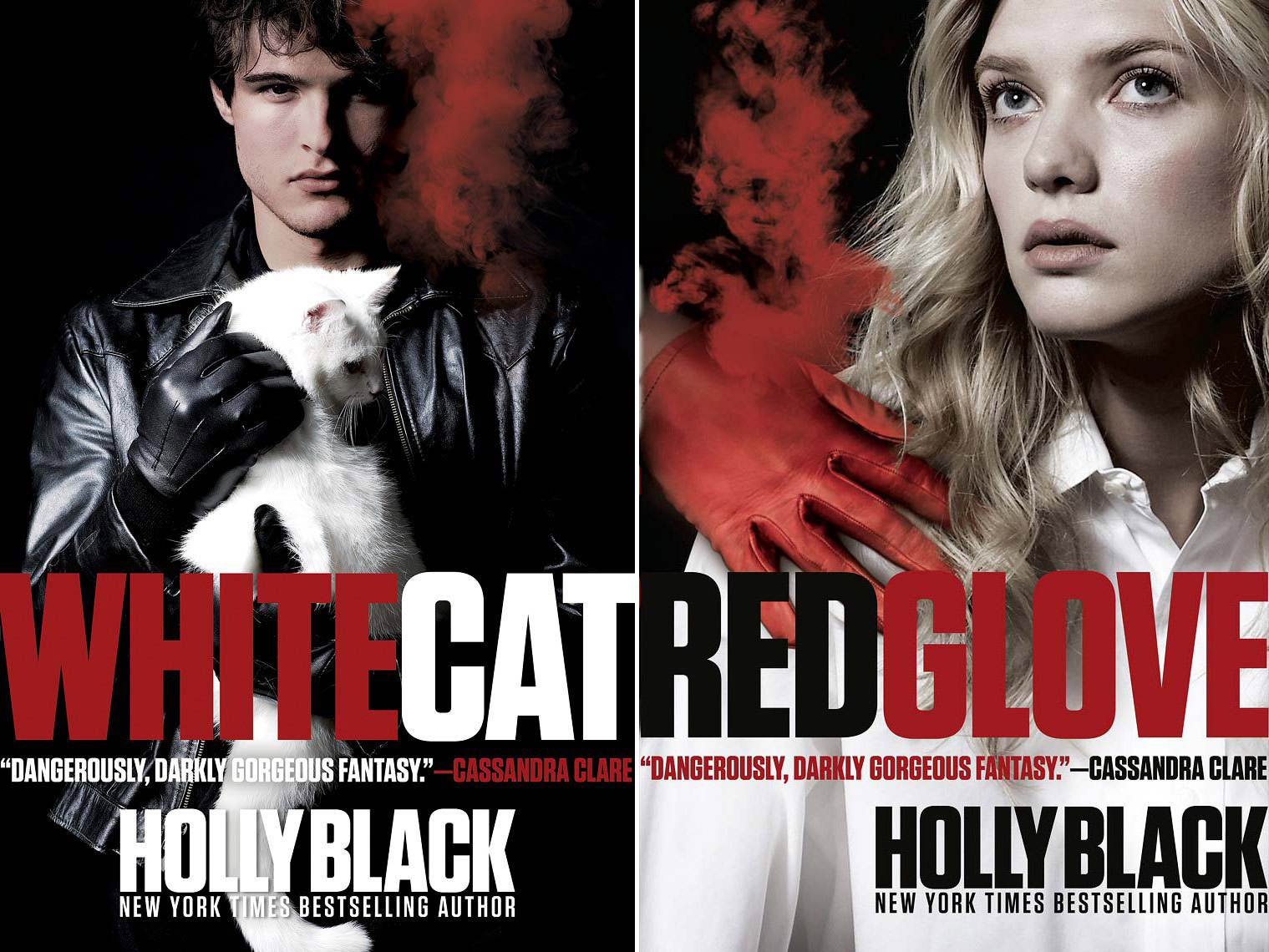 White Cat - Red Glove - Holly Black | Michael Frost Photography